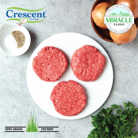 Crescent Foods Grass Fed Beef Burger Patties