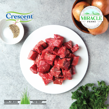 Crescent Foods Grass Fed Beef Stew Meat